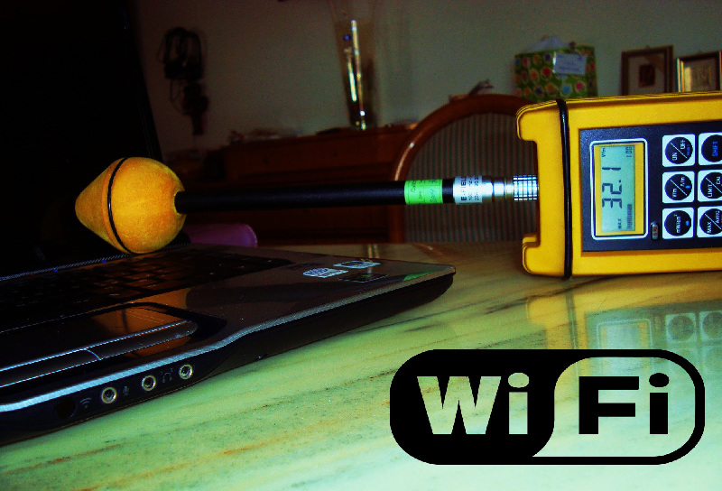irradiation hyperfréquences par le WiFi